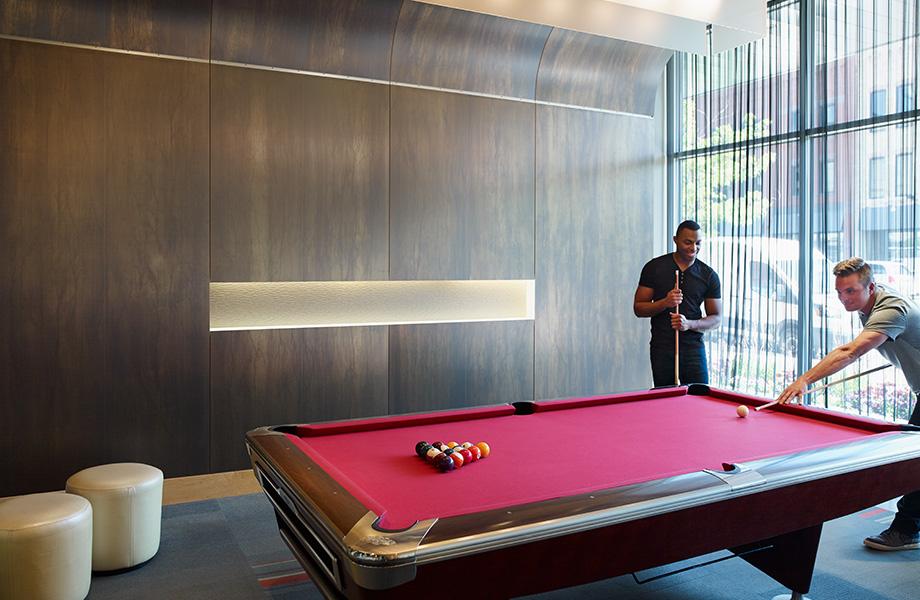 Game room pool table wall M8547 Oxibronze DecoMetal