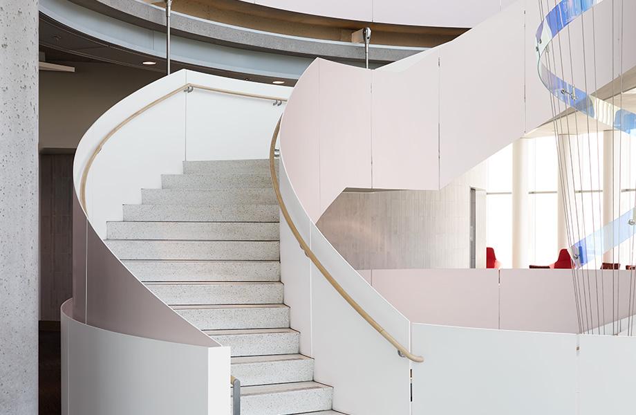 Spiral staircase M8545 Matte Rose Gold DecoMetal