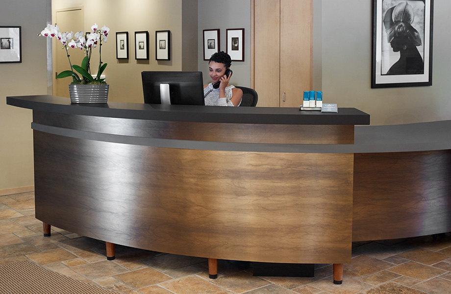 Reception desk M2025 Matte Bronze M8547 Oxibronze DecoMetal