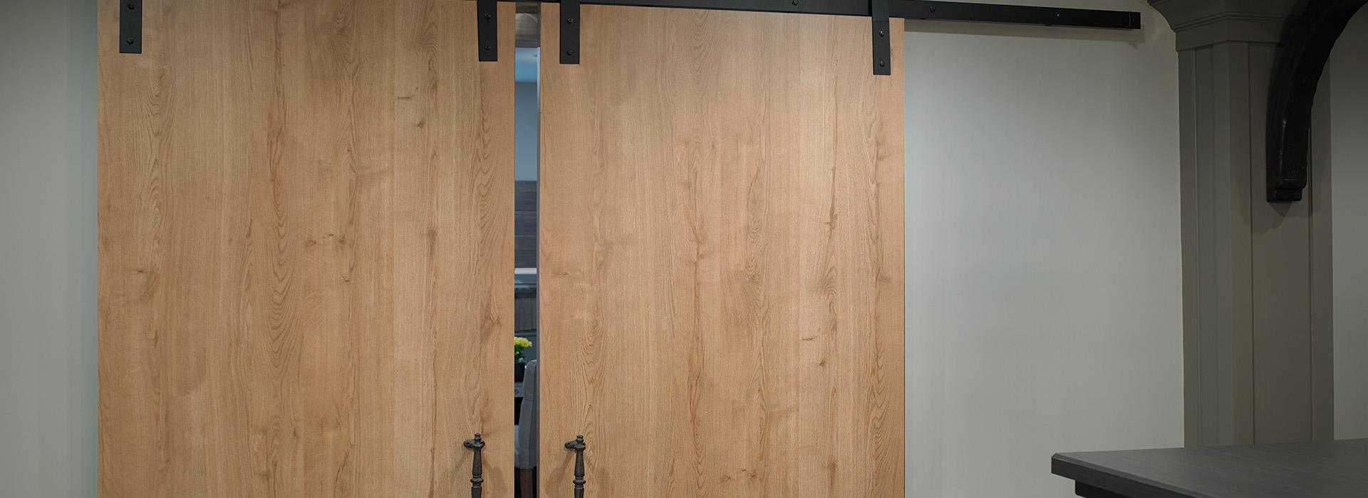 Portes en Stratifié de marque Formica® Planche de Chêne Style Urbain
