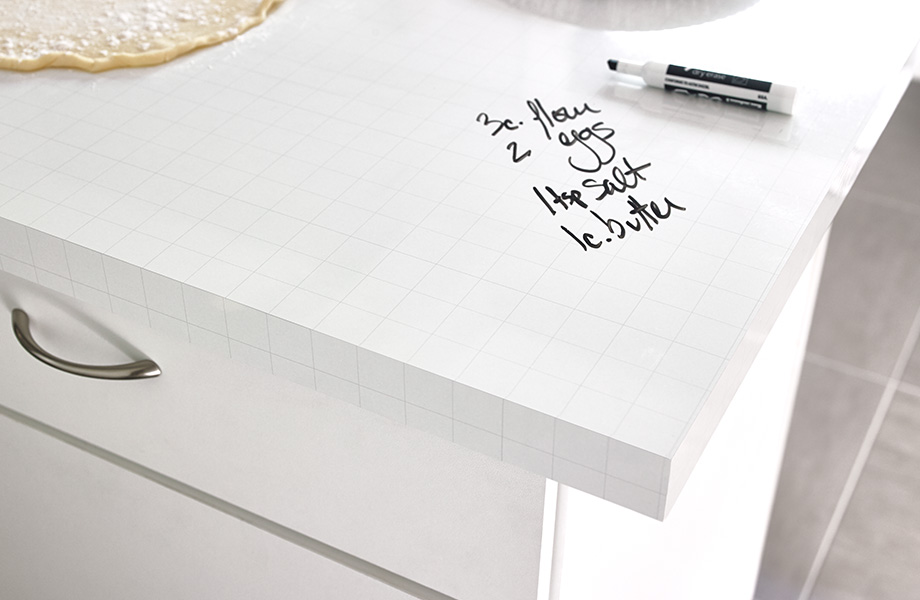 Countertop with recipe 9313 ImagiGrid Writable Surfaces