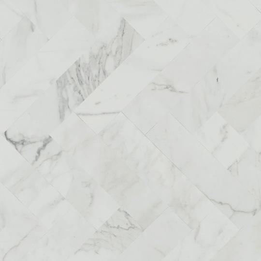 White Marble Herringbone