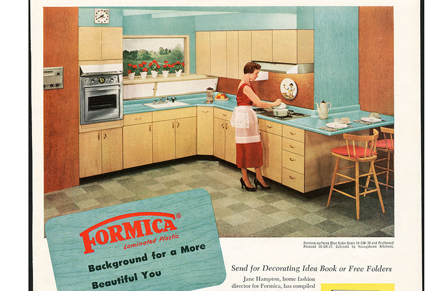 1952 Formica laminate is recognised for being a great material for a modern kitchen 920x600